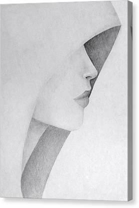 Hooded Woman Canvas Print