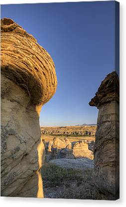 Hoodoo Badlands Alberta Canada Canvas Print by Mark Duffy