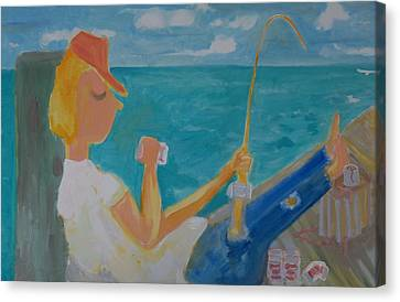 Hooked Canvas Print by Jay Manne-Crusoe