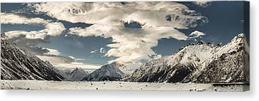 Hooker River In The Valley At Tasman Canvas Print by Colin Monteath