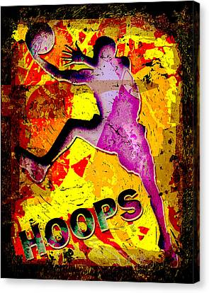 Hoops Basketball Player Abstract Canvas Print by David G Paul