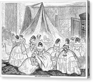 Hoopskirts, 1858 Canvas Print by Granger