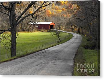 Indiana Landscapes Canvas Print - Hoosier Autumn - D007843a by Daniel Dempster