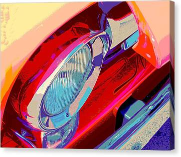 Hoots Crusin Central Canvas Print by Chuck Re