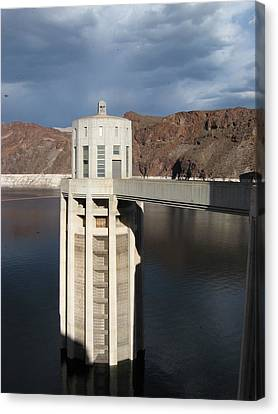 Hoover Dam Single Tower Canvas Print