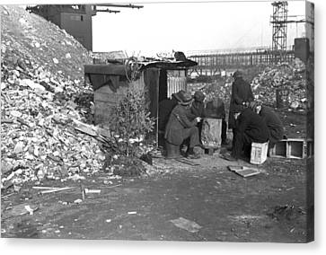 Hooverville At East 12th Street, New Canvas Print