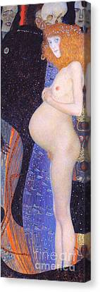 Hope I 1903 By Gustav Klimt Canvas Print by Pg Reproductions