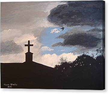 Canvas Print featuring the painting Hope In The Storm by Norm Starks