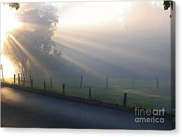 Hope Is In His Light Canvas Print