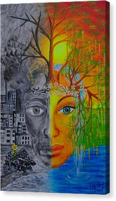 Hope Motherearth Canvas Print by Esthy Baltisberger