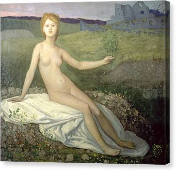 Hope Canvas Print by Pierre Puvis de Chavannes