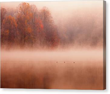 Hopewell Lake, French Creek State Park Canvas Print by Michael Lawrence Photography