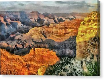 Hopi Point - Grand Canyon Sunset Canvas Print by Mary Warner