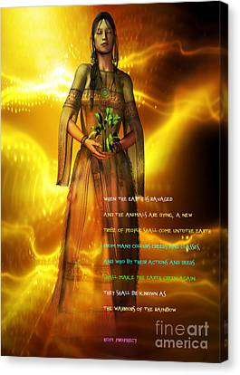 Canvas Print featuring the digital art Hopi Prophecy by Shadowlea Is