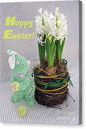 Hoppy Easter Says The Bunny Canvas Print