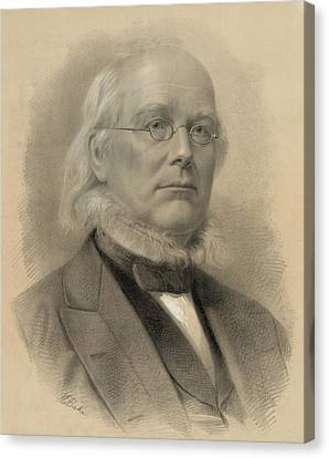 Horace Greeley 1811-1872, Ca. 1872 Canvas Print by Everett