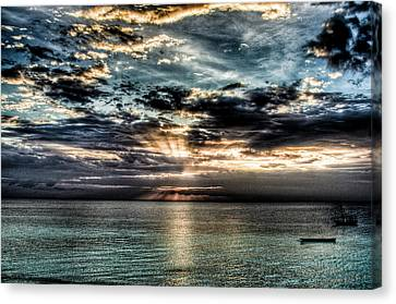Canvas Print featuring the photograph Horizon by Andrea Barbieri