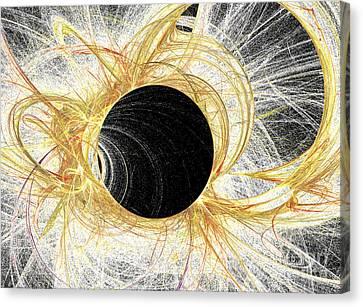 Canvas Print featuring the digital art Horizon by Kim Sy Ok