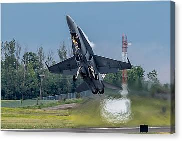 Hornet Power Canvas Print by Bill Lindsay