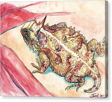 Horny Toad Canvas Print by Jenn Cunningham