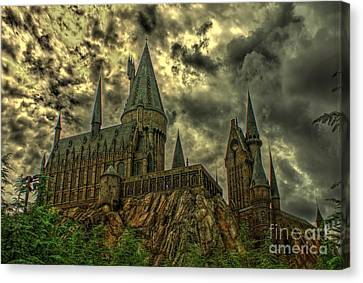 Horror Castle Canvas Print by Ines Bolasini