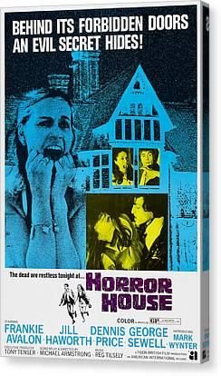 Horror House, Aka The Haunted House Of Canvas Print