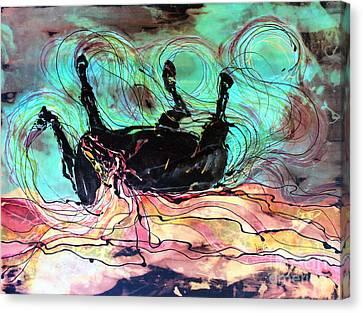 Horse Born Of Earth Water Sky Canvas Print by Carol Law Conklin