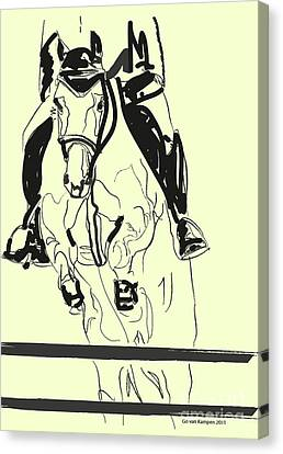 Horse-jumping Canvas Print by Go Van Kampen