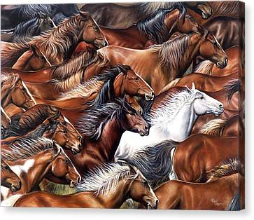 Horse Of A Different Color Canvas Print by Rick Unger