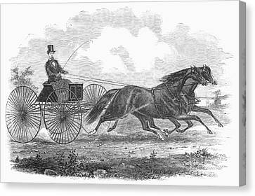 Horse Racing, 1862 Canvas Print by Granger