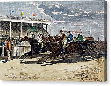 Horse Racing, Ny, 1879 Canvas Print by Granger