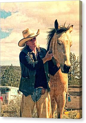 Horse Whisperer Canvas Print by Rhonda Strickland
