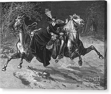 Horseback Riding Accident Canvas Print by Granger