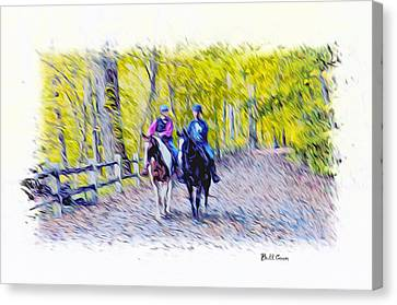 Horseback Riding  Canvas Print by Bill Cannon