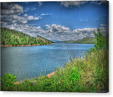 Horsetooth Reservoir Summer Hdr Canvas Print by Aaron Burrows