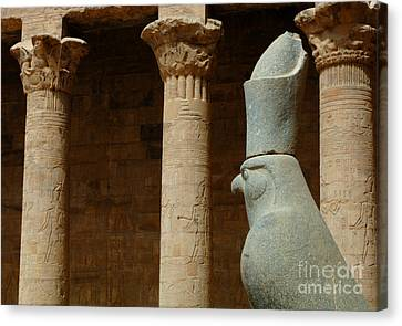 Horus Temple Of Edfu Egypt Canvas Print by Bob Christopher