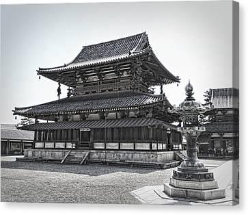 Horyu-ji Temple Golden Hall - Nara Japan Canvas Print by Daniel Hagerman