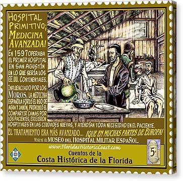 Canvas Print - Hospital Primitivo Medicina Avanzada by Warren Clark