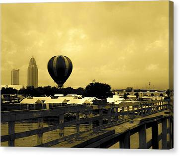 Hot Air Balloon Canvas Print by Floyd Smith