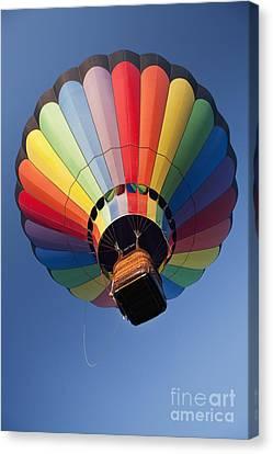 Hot Air Balloon In Flight Canvas Print by Bryan Mullennix