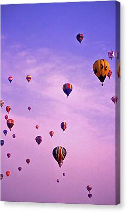 Hot Air Balloon Race - 1 Canvas Print