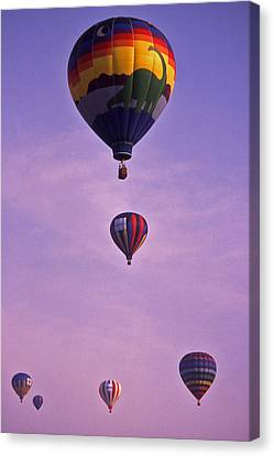 Hot Air Balloon Race - 3 Canvas Print