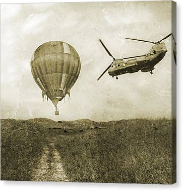Hot Air Cool Air Canvas Print by Betsy Knapp