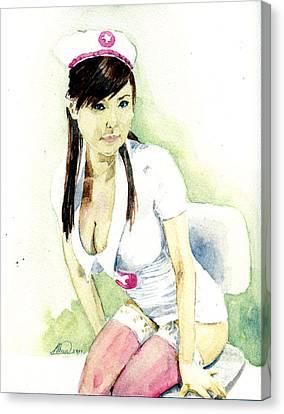 Hot Nurses Canvas Print - Hot Nurse by Alban Dizdari
