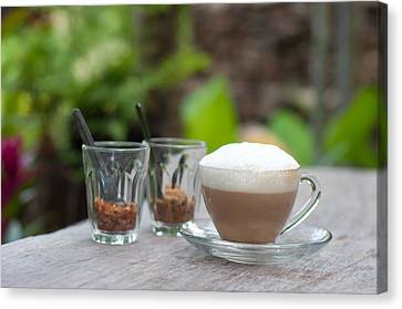 Capuccino Canvas Print - Hot Capuccino Coffee by Ngarare