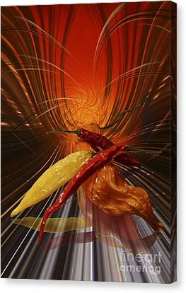 Canvas Print featuring the digital art Hot Chilli by Johnny Hildingsson