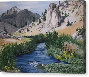 Hot Creek Canvas Print