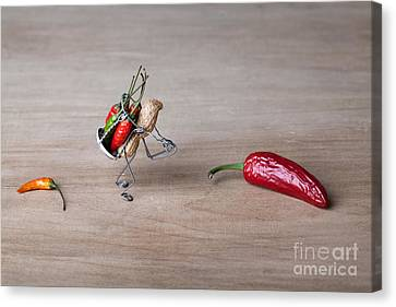 Touching Canvas Print - Hot Delivery 01 by Nailia Schwarz
