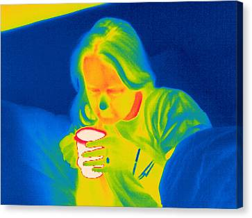 Hot Drink, Thermogram Canvas Print