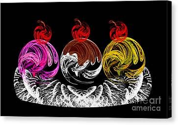 Hot Fudge Ice Cream Boat Canvas Print by Andee Design